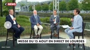 Read more about the article CNEWS : REPLAY – LA MESSE DE L'ASSOMPTION DU 15 AOÛT EN DIRECT DE LOURDES