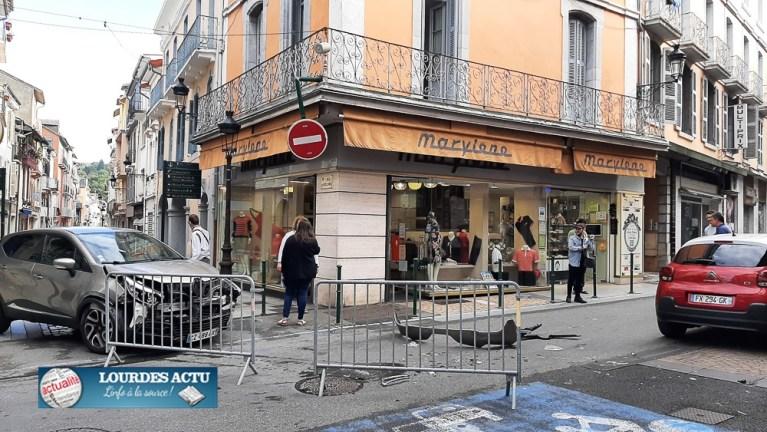 Read more about the article Lourdes : accrochage rue de la Grotte