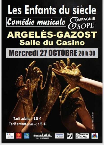 Read more about the article Argelès-Gazost : La Compagnie ESOPE  présente «Les enfants du Siècle» le 27 octobre