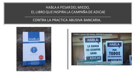 Ca,paña de ADICAE HABLA A PESAR DEL MIEDO