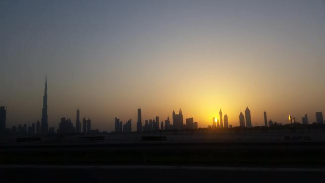as the sun sets ...