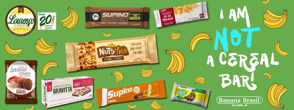 banner banana brasil - Lourenço Alimentos