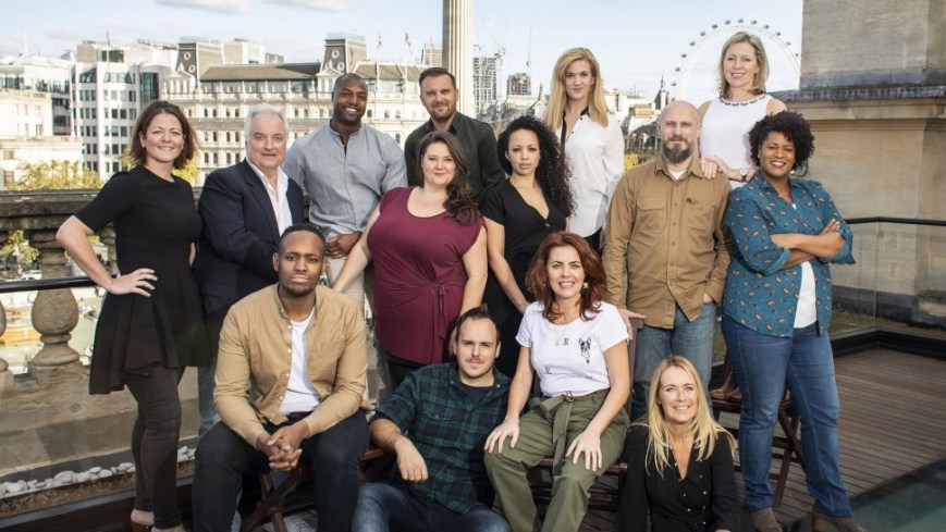The cast of Come From Away. Via Playbill.