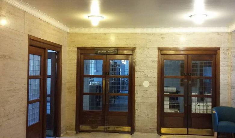 Original doors within 55 Broadway