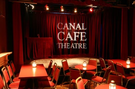 Inside the Canal Cafe Theatre.