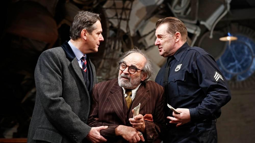Adrian Lukis, David Suchet, Brendan Coyle in The Price. Photo credit Nobby Clark.