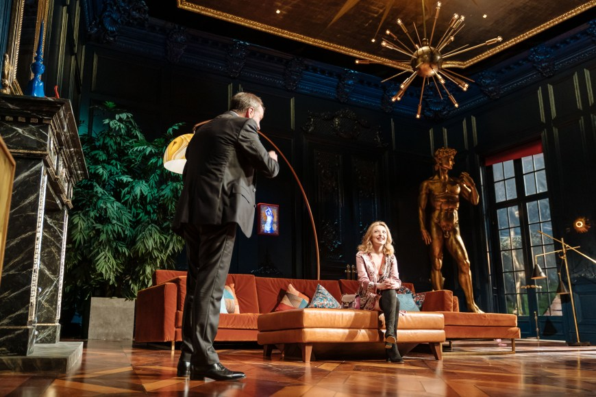 Kevin Doyle and Kitty Archer in Tartuffe. Photo credit Manuel Harlan.