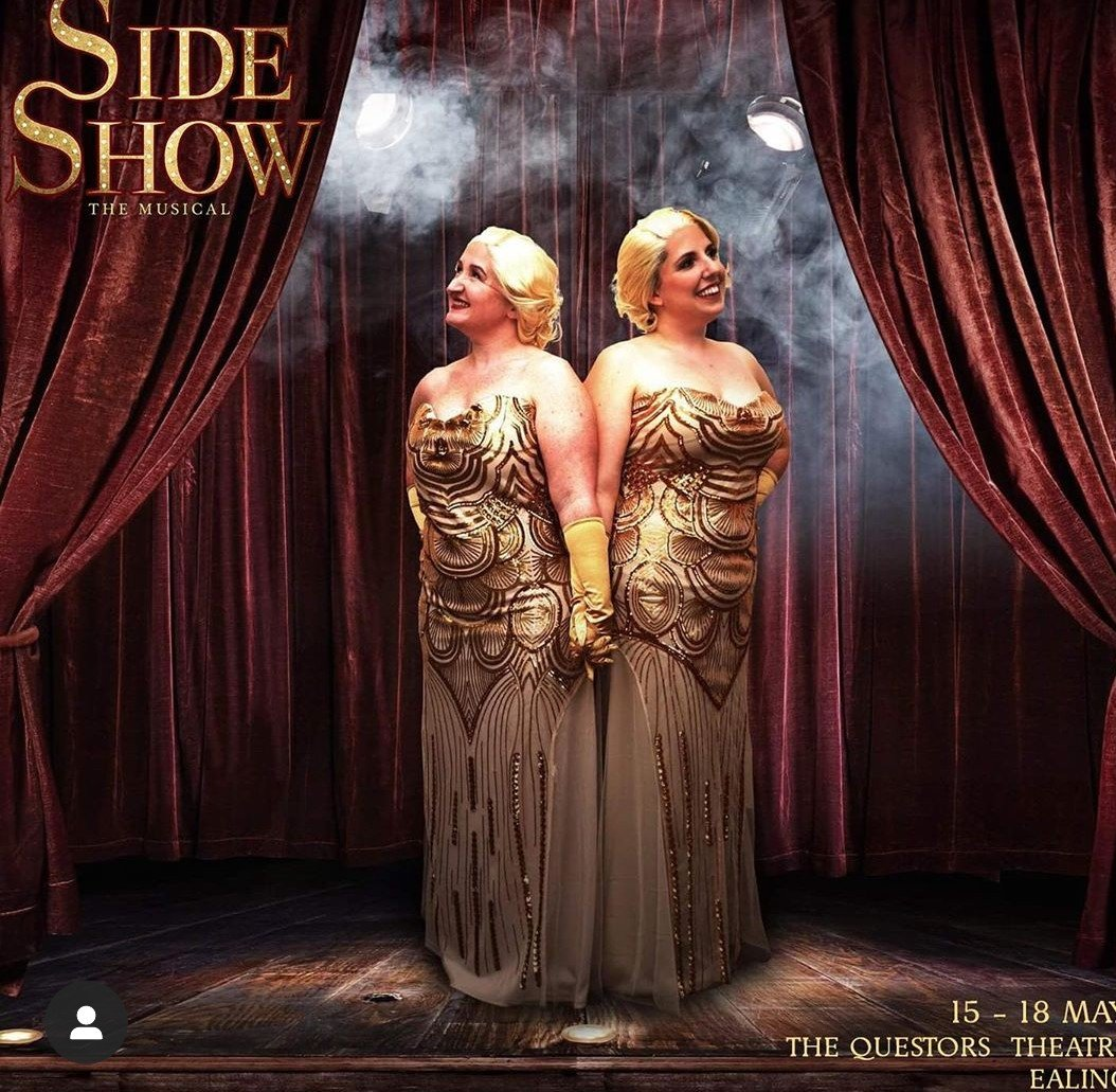 Victoria Jones and Sarah Lister in Side Show. Photo credit Stephen Brooks.