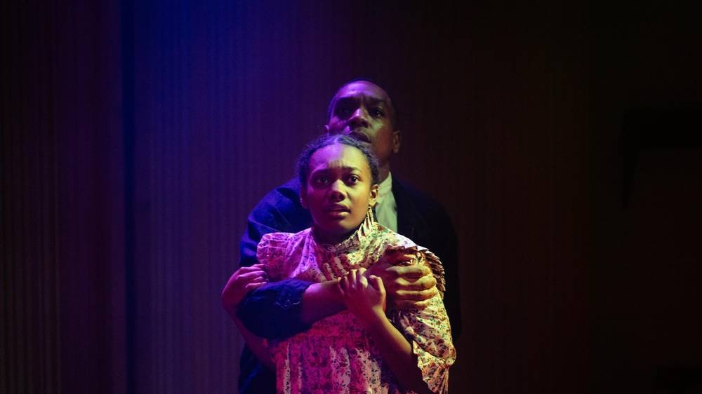 Nina Cassells and Syrus Lowe in The Crucible. Photo by Helen Murray.