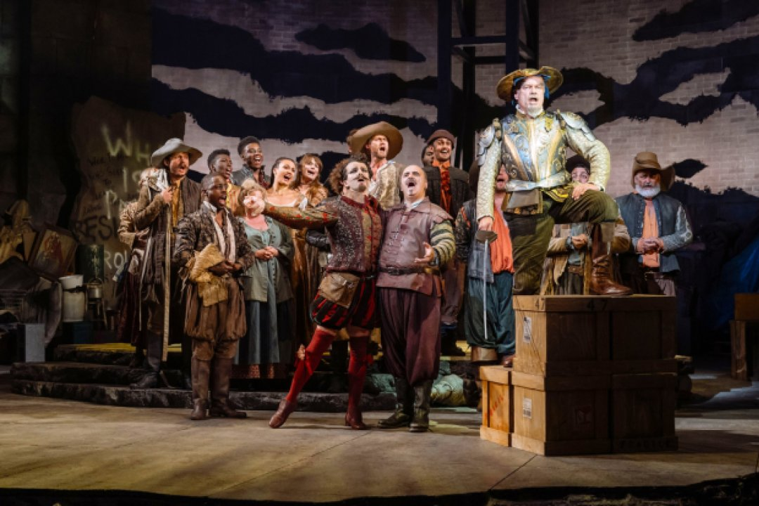 The company of Man of La Mancha