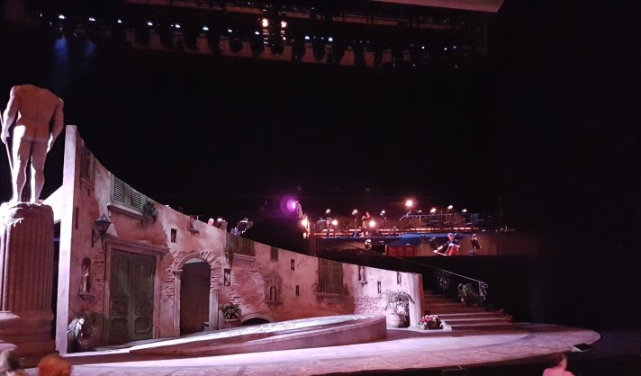 View from front stalls.
