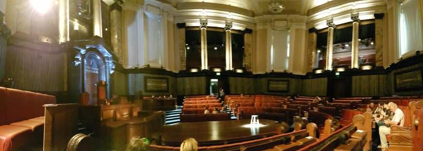 The council chamber at London County Hall