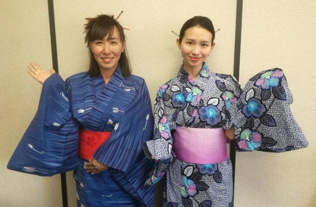 Shina Shihoko Nagai and Rina Saito