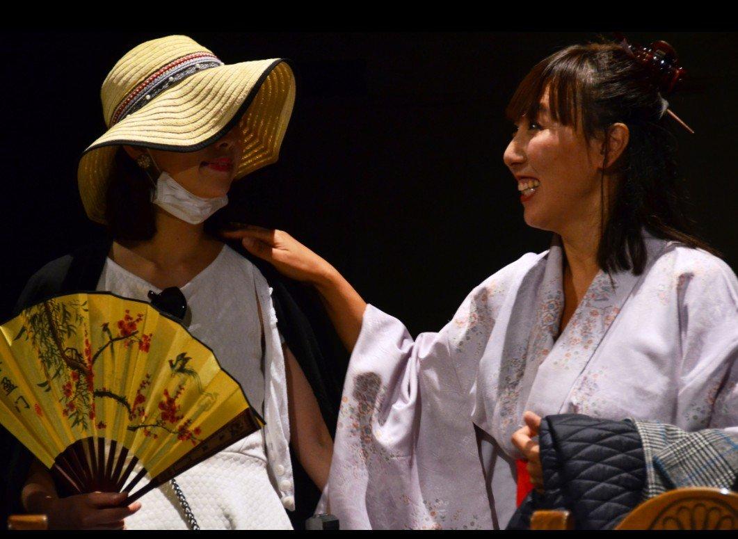 Rina Saito as Shizuko and Shina Shihoko Nagai as Ichika