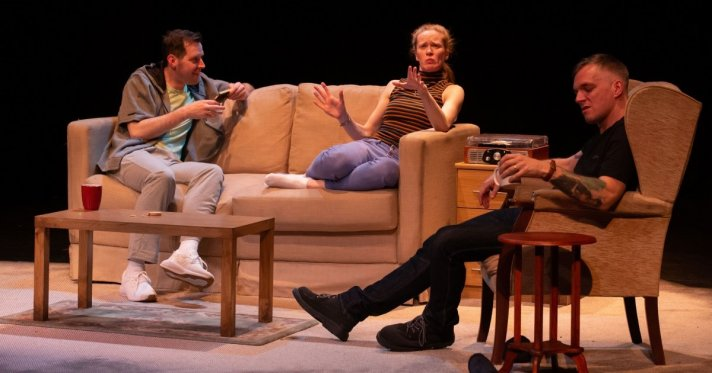Paul Westwood, Kathryn O'Reilly, Charlie Allen in Skin in the Game