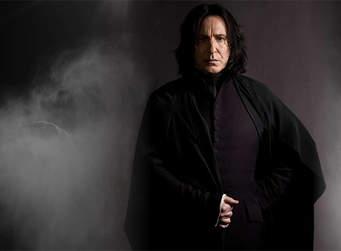 Alan Rickman as Snape.