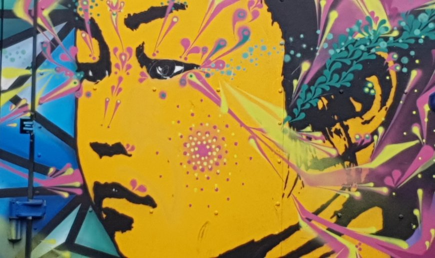 Detail from collaboration between Stinkfish and DRT