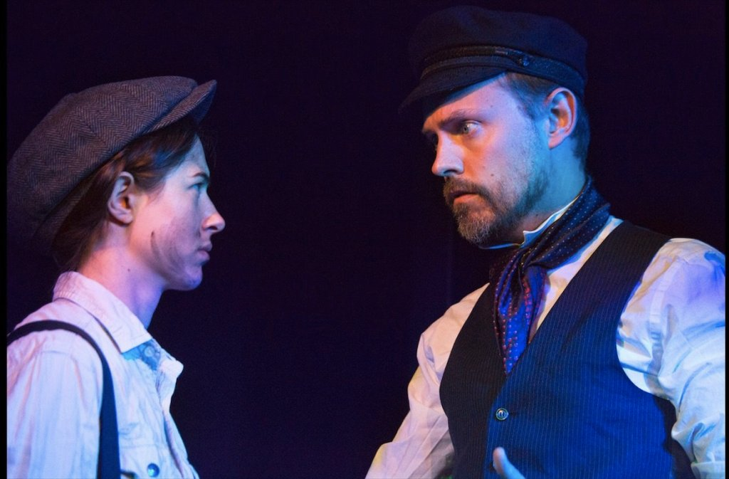 Helen Baranova and Tim Larkfield in The Signalman. Image by Elee Nova.