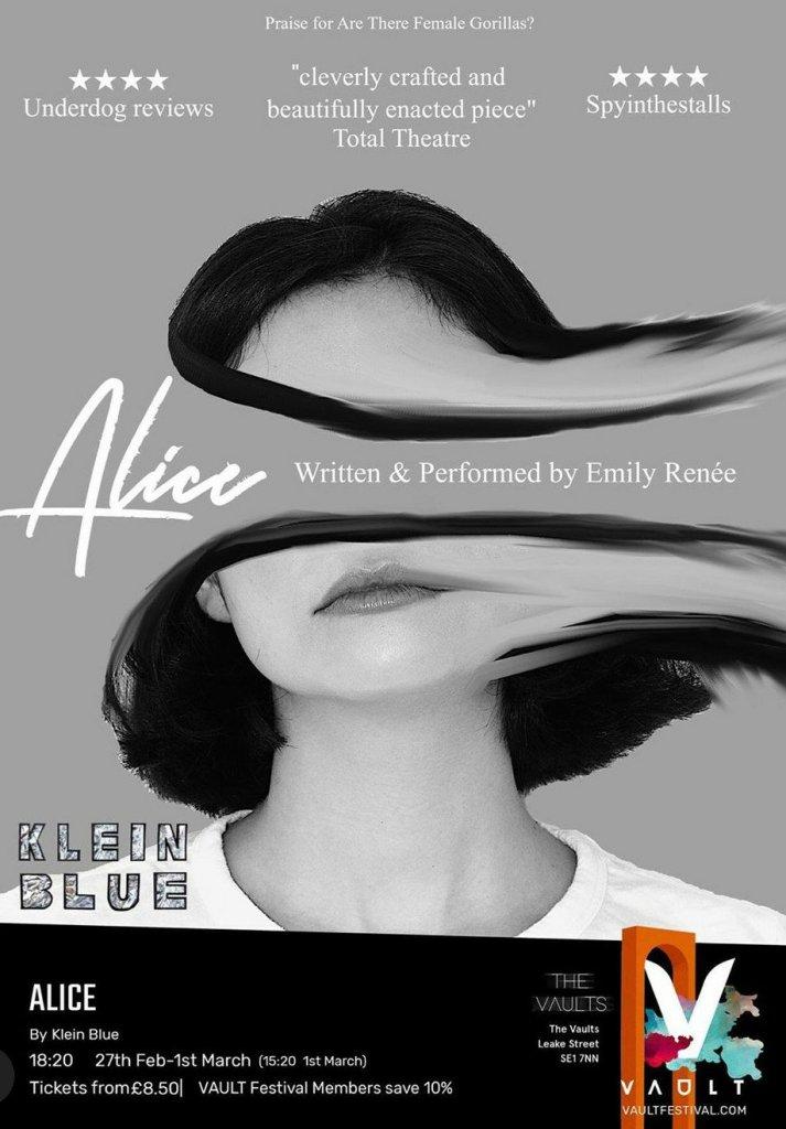 Vault Festival publicity image for Alice