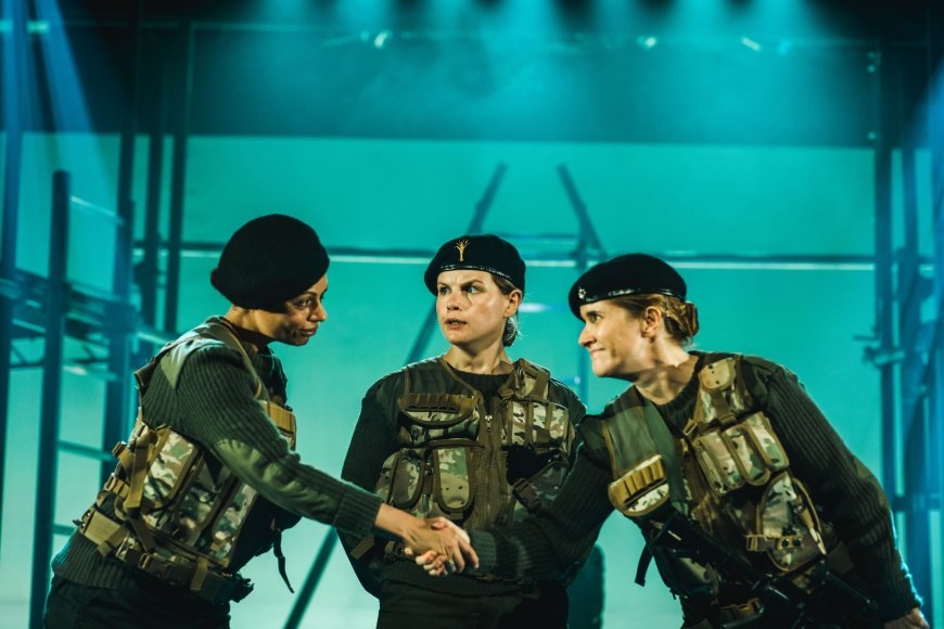 Alicia Charles, Elin Phillips and Sarah Waddell in Henry V.