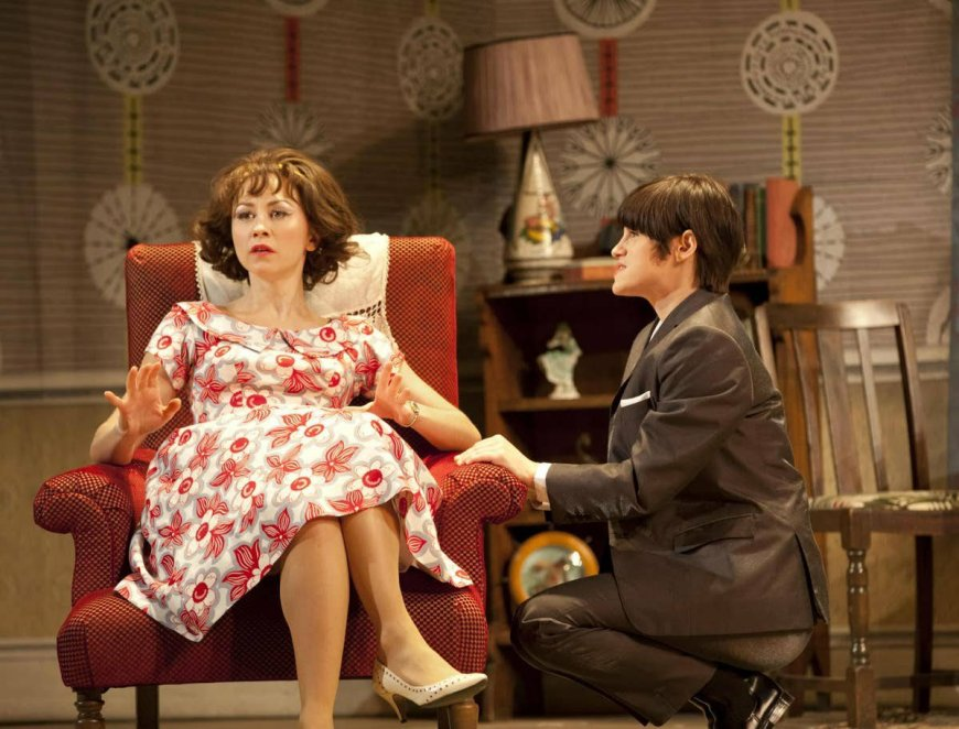 Clare Lams (Pauline) and Jemima Rooper in One Man Two Guvnors