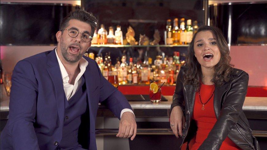 Simon Lipkin and Samantha Barks in First Date