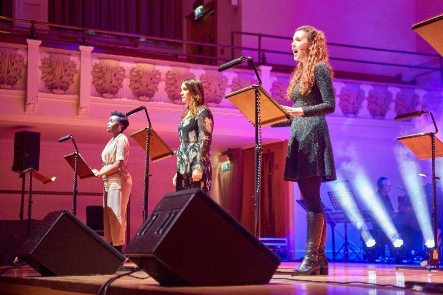 Sharon Rose, Lucie Jones, Rebecca LaChance in Treason The Musical