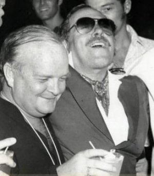 Truman Capotre and Tennessee Williams together c 1970s