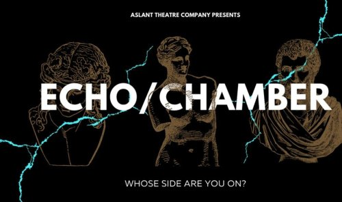Promotional image for Echo/Chamber by Aslant Theatre Company