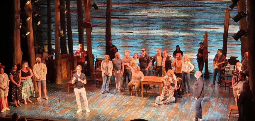 Producer John Brant and the cast of Come From Away