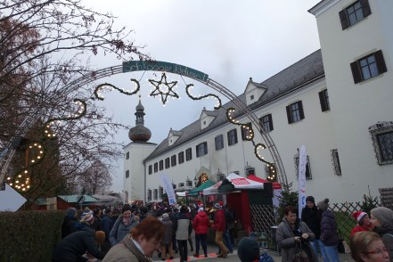 Entrance to the Christmas Markets at Schloss Ort