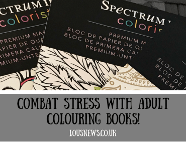Combat stress with adult colouring books!