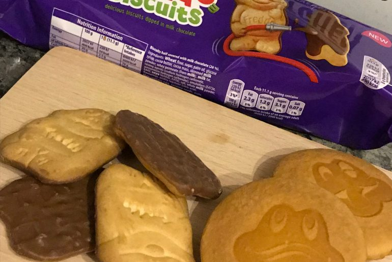Freddo biscuits and faces