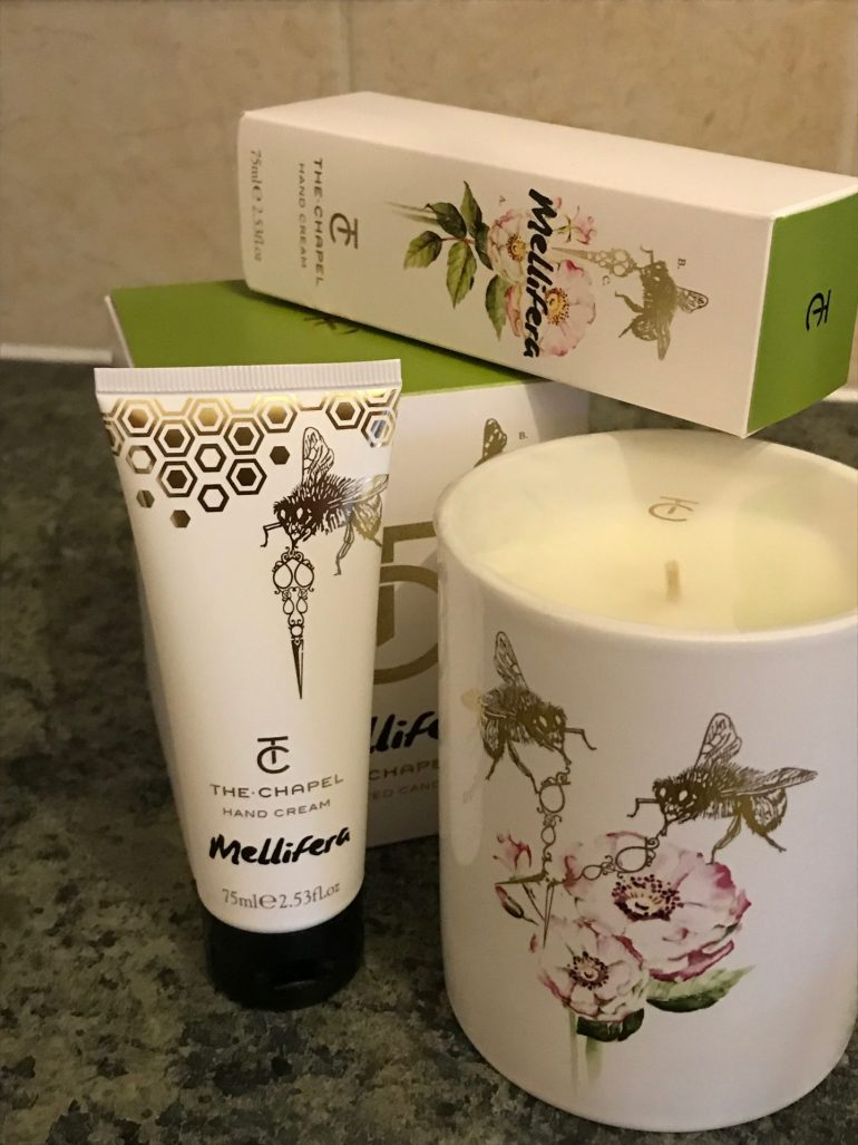 The chapel hand cream and candle