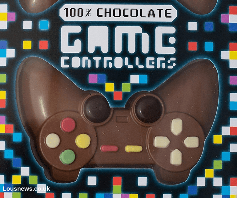 Mens Retro Geek Christmas Gift Guide Chocolate Game Controller - Double Chocolate Controller Pack