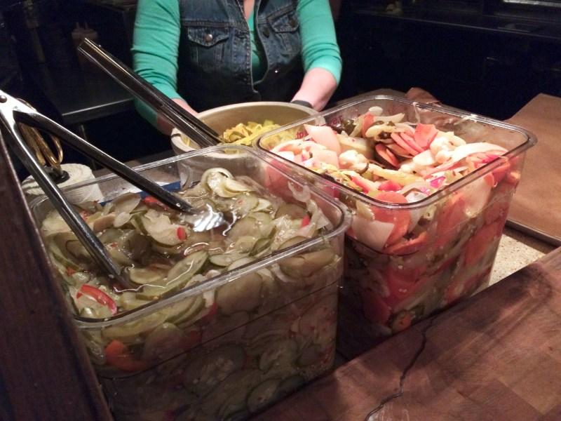 Spicy Pickles, Sweet Pickles, Spicy Pickled Vegetables ($4.95 ea)
