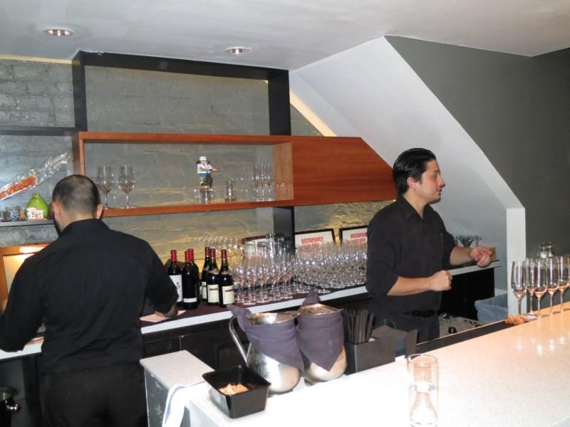 Upstairs bar at Takashi