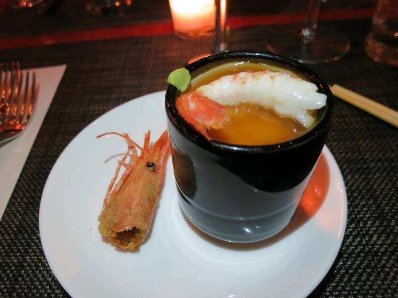 Chawanmushi of Alaskan Spot Prawn and Egg Custard
