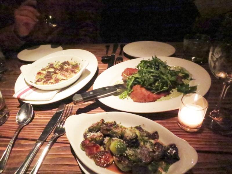 Black Truffle Gnocchi, Pork Paillard, Brussels Sprouts
