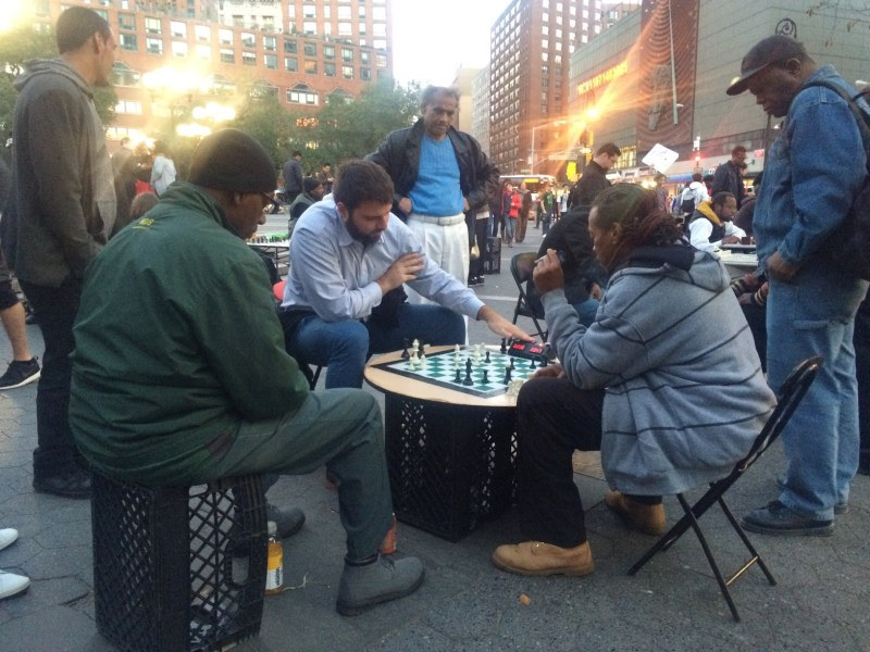 Chess players now at Union Square