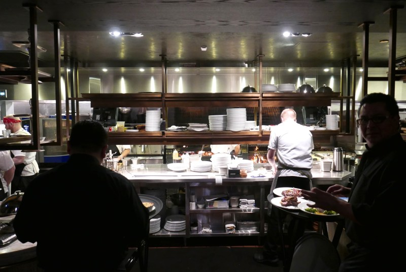 Open kitchen at Maple and Ash