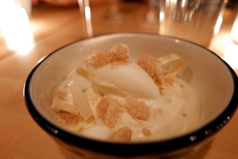 Tres Leches with Kobocha and Pecan Ice (Empellon)