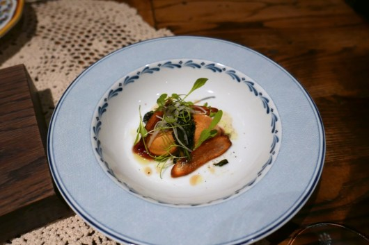 Tourton of salsify and apple