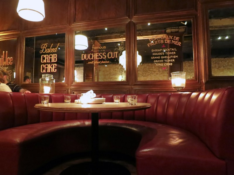 Booth at Bavette's Bar & Boeuf