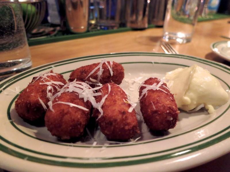 Manchego & Speck Croquettes, Roast Garlic Aioli