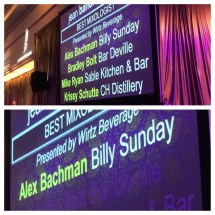 Best Mixologist: Alex Bachman (Billy Sunday)
