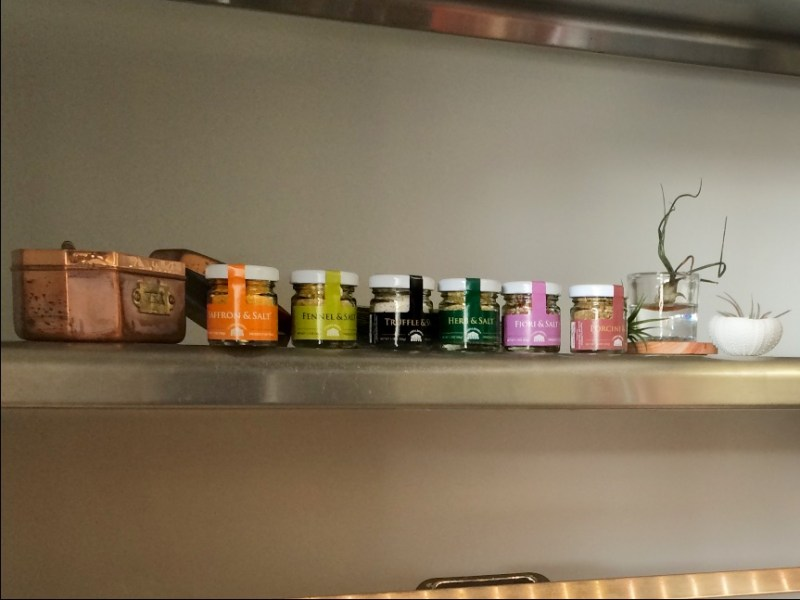 Casina Rossa Gourmet Sea Salts on the Schmear Bar at Snaggletooth