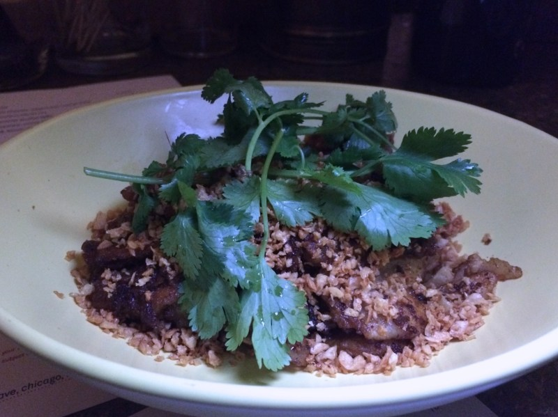 Hand torn noodle, spicy lamb sofrito, sichuan peppercorn, cumin ($14)
