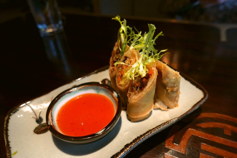 Crispy Spring Roll, carrots, royal trumpet and wood ear mushrooms