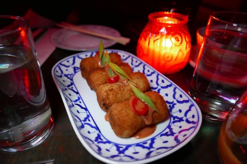 Minchi + Potato Croquettes, plum sauce